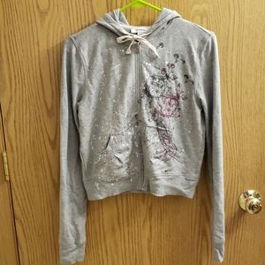 Express sweat top with hood size M
